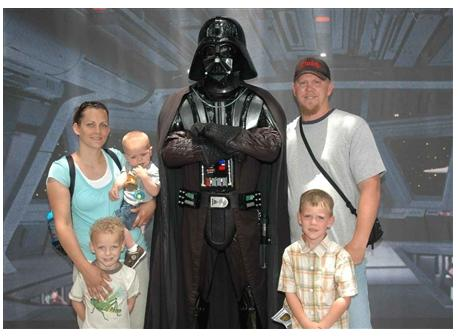 Family with Darth Vader